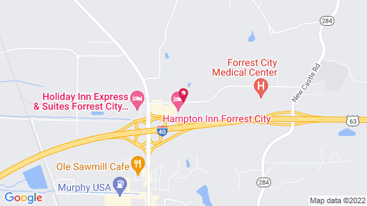 Hampton Inn Forrest City Map
