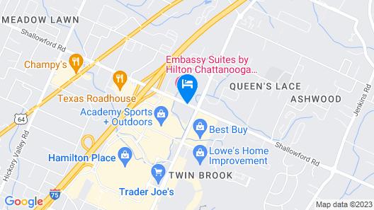 Studio 6 Chattanooga, TN - East Map