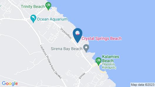 Crystal Springs Beach Hotel Map