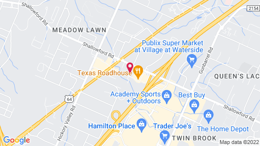 Homewood Suites by Hilton Chattanooga - Hamilton Place Map