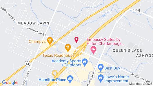 Hilton Garden Inn Chattanooga/Hamilton Place Map