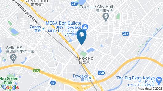 Business Hotel Izumi Map