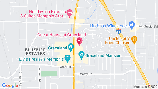 The Guest House at Graceland Map