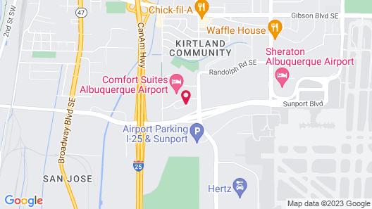 Holiday Inn Hotel & Suites Albuquerque Airport Map