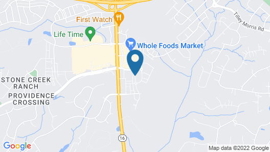 Hilton Garden Inn Charlotte Waverly, NC Map