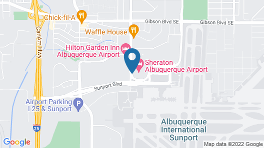 Sheraton Albuquerque Airport Hotel Map
