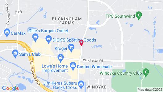 Hampton Inn Memphis Southwind Map