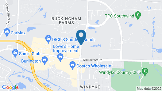 Hampton Inn Memphis Southwind Map