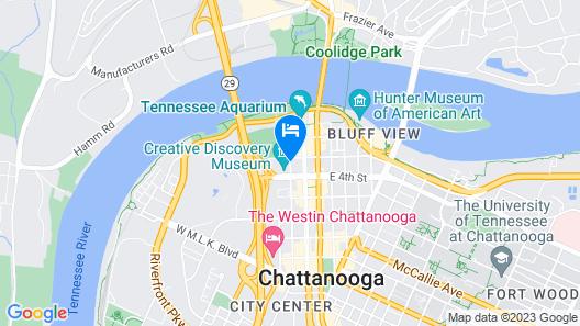Hilton Garden Inn Chattanooga Downtown Map