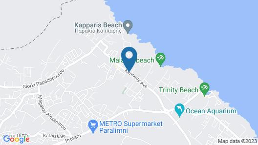 Captain Karas Holiday Apartments Map