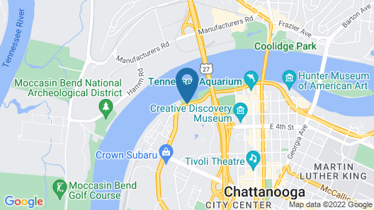SpringHill Suites Chattanooga Downtown/Cameron Harbor Map