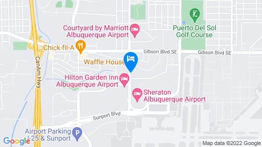 Best Western Airport Albuquerque InnSuites Hotel & Suites Map