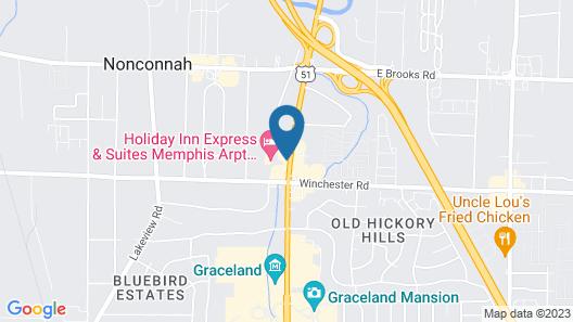 Holiday Inn Express & Suites Memphis Arpt Elvis Presley Blv, an IHG Hotel Map