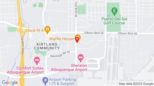 Ramada by Wyndham Albuquerque Airport Map