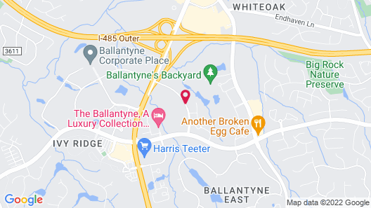 Aloft Charlotte Ballantyne Map