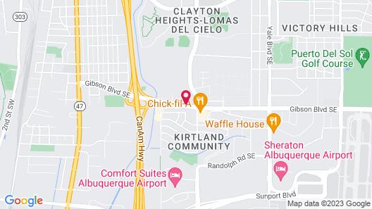 Hawthorn Suites by Wyndham Albuquerque Map