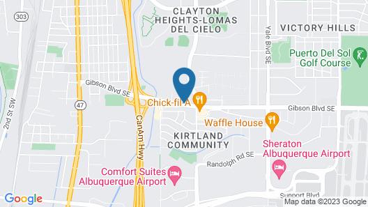 Quality Suites Albuquerque Map