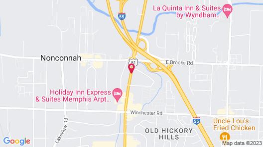 Red Roof Inn Memphis -  Airport Map