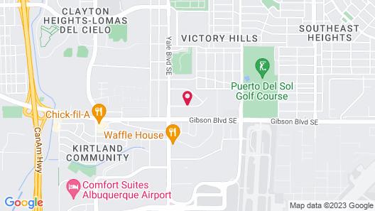 Days Inn & Suites by Wyndham Airport Albuquerque Map