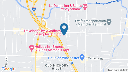 Travelodge by Wyndham Memphis Airport/Graceland Map
