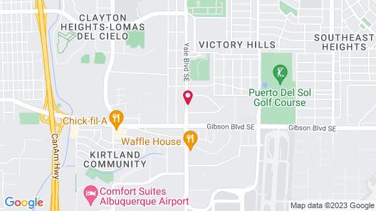 Courtyard by Marriott Albuquerque Airport Map