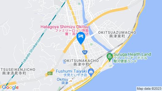 Family Lodge Hatagoya Shimizu Okitsu Map