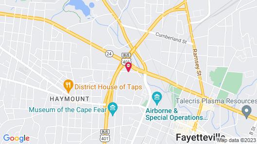 WoodSpring Suites Fayetteville Map
