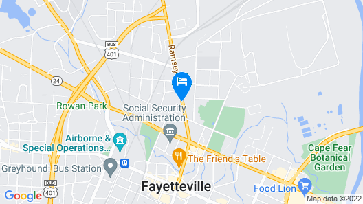 Regency Inn Fayetteville/Fort Bragg Map