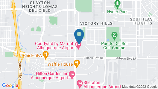 Extended Stay America - Albuquerque - Airport Map
