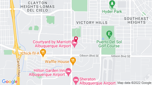 Extended Stay America Suites Albuquerque Airport Map