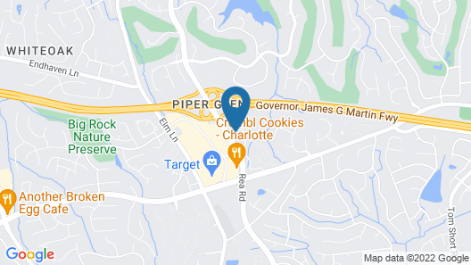 Home2 Suites by Hilton Charlotte Piper Glen Map