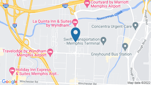 Quality Inn Airport I-240 Map