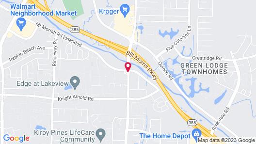 Courtyard by Marriott Memphis East/Bill Morris Parkway Map