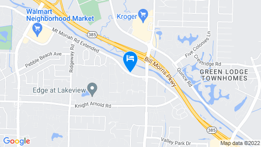Extended Stay America Memphis - Mt Moriah Map