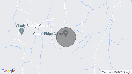 3 Bunkhouse Rooms Located Near the Cherokee National Forest and the Ocoee River Map