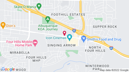 Suburban Extended Stay Hotel East Map