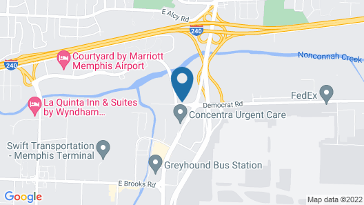 Clarion Hotel & Suites Conference Center Memphis Airport Map