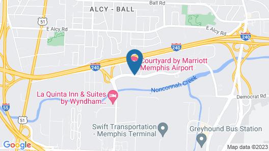 Courtyard by Marriott Memphis Airport Map