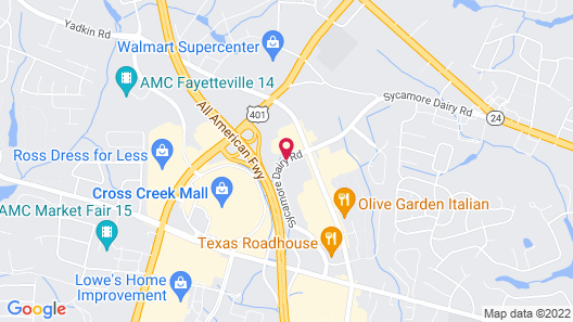 Hilton Garden Inn Fayetteville Map