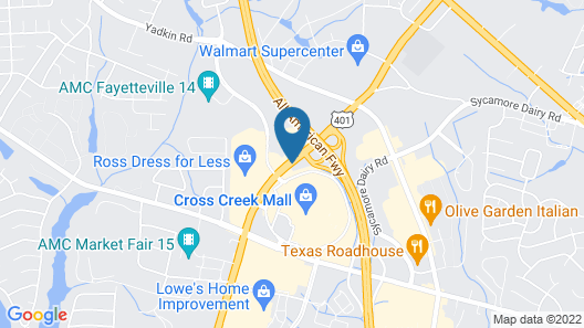 Red Lion Inn & Suites Fayetteville at Cross Creek Mall Map