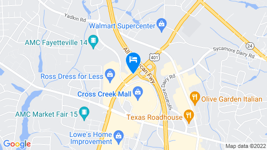 Days Inn & Suites by Wyndham Fort Bragg/Cross Creek Mall Map