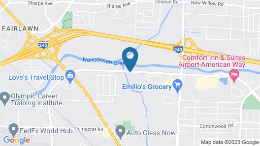 Americas Best Value Inn Memphis I-240 Map
