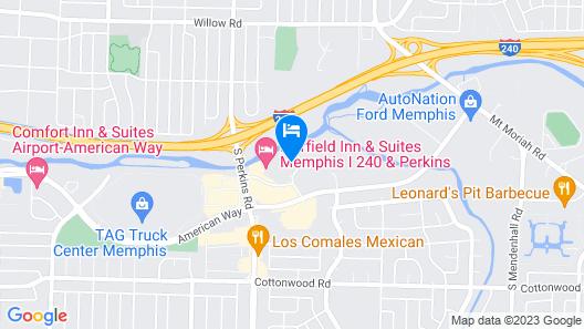 Radisson Hotel Memphis - University Map