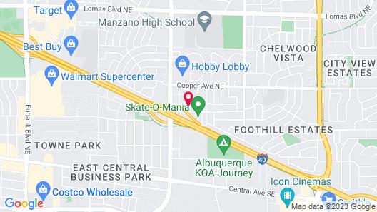Quality Inn Albuquerque East I-40 Juan Tabo Exit Map