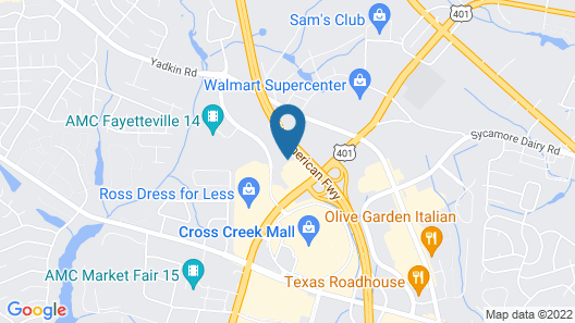 Holiday Inn Express Fort Bragg, an IHG Hotel Map
