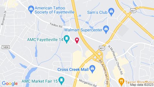 Embassy Suites Fayetteville/Fort Bragg Map