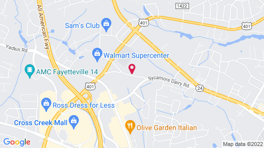 Candlewood Suites Fayetteville Fort Bragg, an IHG Hotel Map