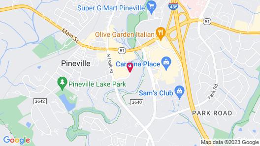Hilton Garden Inn Charlotte Pineville Map