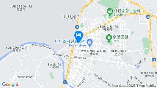 Sacheon Poseidon Motel Map