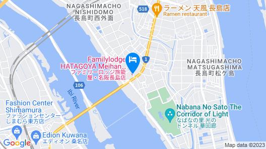 Family Lodge Hatagoya Meihan Nagashima Map